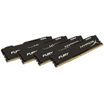 Kingston HyperX Fury Black 128GB 2666MHz DDR4 memória Non-ECC CL16 Kit of 4 XMP 2.0