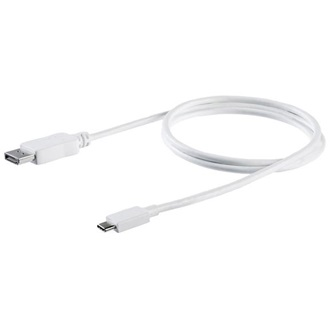 1M USB C TO DP CABLE - WHITE USB C TO DP ADAPTER - WHITE