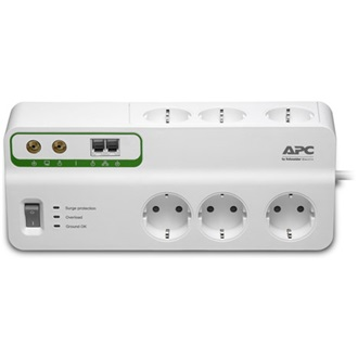 APC Home/Office SurgeArrest 6 outlets with Phone & Coax Protection 230V Germany