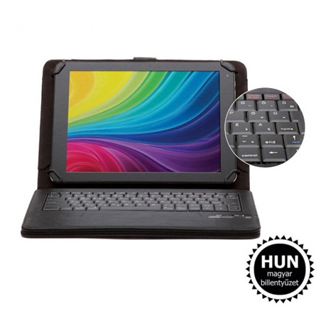 "Alcor BT-100 9,7-10"" tablet tok + billentyűzet fekete"