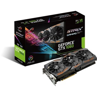Asus GeForce GTX 1060 STRIX Gaming 6GB GDDR5 192bit grafikus kártya