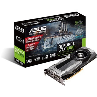 Asus GeForce GTX 1080 Founders Edition 8GB GDDR5X 256bit grafikus kártya