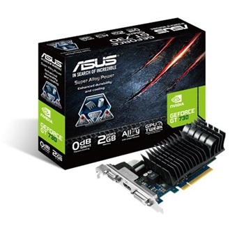 Asus GeForce GT 730 Silent 2GB GDDR3 64bit low profile grafikus kártya