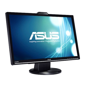 "Asus VK248H 24"" 2ms, DVI/HDMI, webcam, hangfalak, fekete LED Monitor"