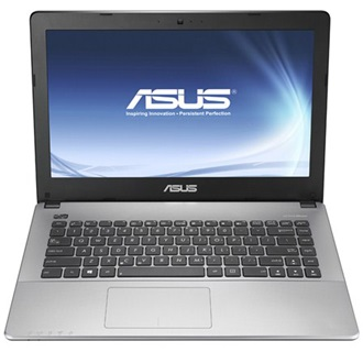 "Asus X455LA-WX329D notebook fekete 14"" HD Core i3-5010U 4GB 500GB  DOS"