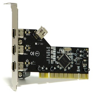Best Connect PCI - 3+1 FireWire A IO vezérlő NEC chipset