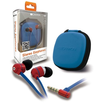 Canyon CNA-SEP05R stereo headset + tok piros