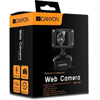 Canyon CNE-CWC1 1,3MP webkamera fekete