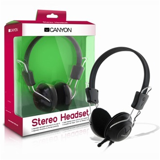Canyon CNR-HS08N stereo headset fekete
