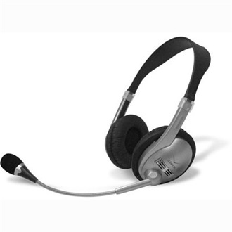 Canyon CNR-HS01N stereo headset fekete-ezüst