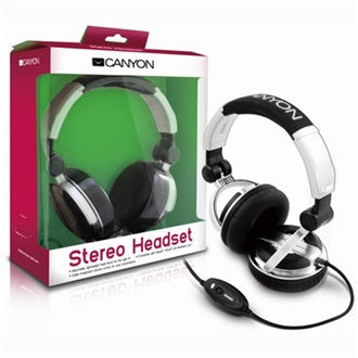 Canyon CNR-HS10N stereo headset fekete-ezüst
