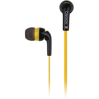 Canyon fashion earphones, flat anti-tangling cable, yellow