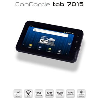 "ConCorde Tablet PC 7015 7"" LCD, 8GB, Webkamera, WiFi,  Android 4.0 HU"