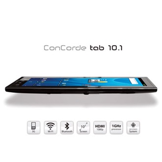 "ConCorde Tablet PC 10.1"" LCD, 8GB, WiFi, BlueTooth,  Android 2.3 HU"
