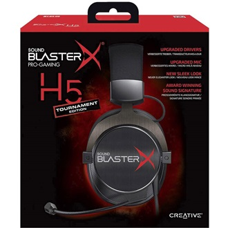 Creative Sound BlasterX H5 Tournament Edition Professional Analog gaming headset fekete