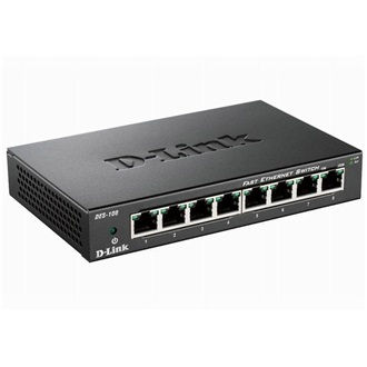 D-Link 8-port 10/100 Metal Housing Desktop Switch