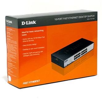 D-Link DES-1016 rack switch