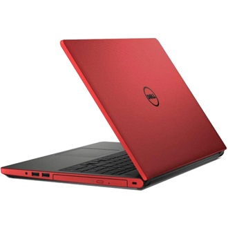 "DELL NB Inspiron 5558 15.6"" HD, Intel Core i3-4005U 1.7GHz, 4GB, 500GB, DVD-RW, Intel HD 4400, Win 8.1, 4 cell, piros"