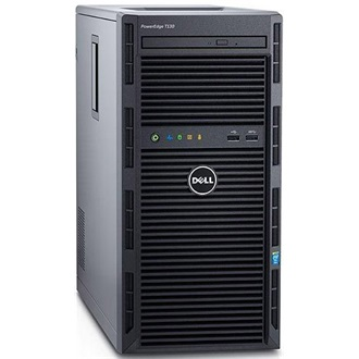 DELL torony szerver PowerEdge T130, 4C E3-1240v5 3.5GHz, 8GB, 4TB NSAS, NoOS.