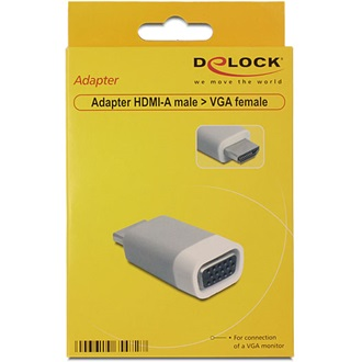 Delock HDMI -> VGA M/F adapter szürke