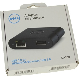 Dell Adapter - USB 3.0 to HDMI/VGA/Ethernet/USB 2.0 (DA100)