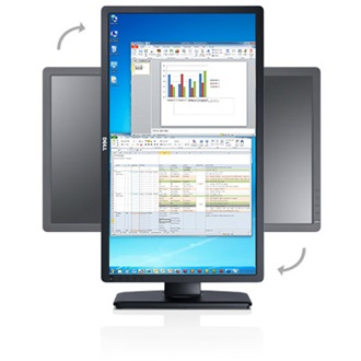 "DELL P2412H 24"" TN LED monitor fekete"