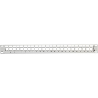 "Delock 19"" Keystone Patch Panel 24 Port szürke"