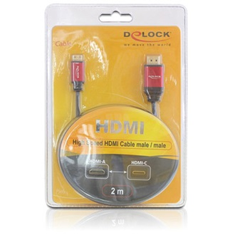 DELOCK HDMI <->  HDMI mini C M/M video jelkábel 3m