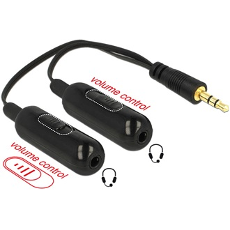 Delock 2 portos audio splitter 3,5""