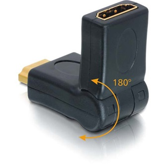 DELOCK HDMI <->  HDMI M/F adapter 180°-ban forgatható