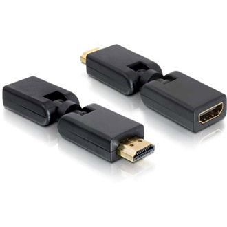 DELOCK HDMI <->  HDMI M/F adapter 360°-ban forgatható