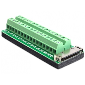 Delock Apple 30pin -> Terminal block 32pin F/F adapter