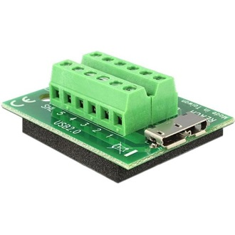 Delock USB 3.0 micro B -> Terminal block 12pin F/F adapter