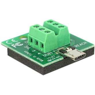 Delock USB micro B -> Terminal block 6pin M/F adapter