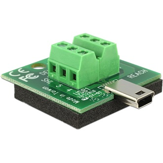 Delock USB mini B -> Terminal block 6pin M/F adapter