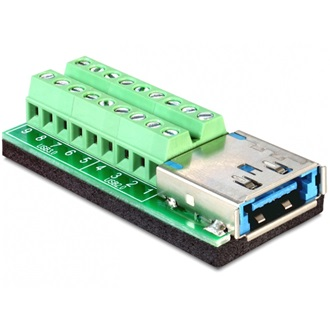 Delock USB 3.0 Multiport +eSATAp -> Terminal block 18pin F/F adapter