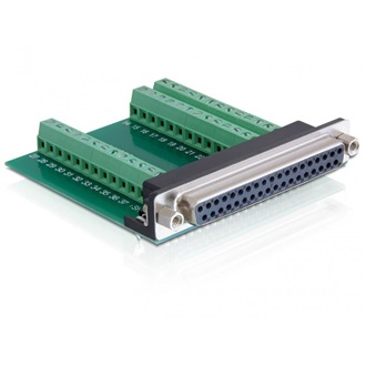Delock Sub-D 37pin -> Terminal block 39pin F/F adapter