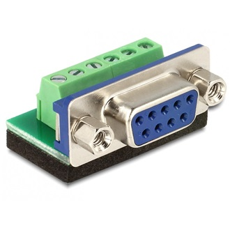 Delock Sub-D 9pin -> Terminal block 6pin F/F adapter