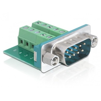 Delock Sub-D 9pin -> Terminal block 10pin M/F adapter