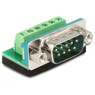 Delock Sub-D 9pin -> Terminal block 6pin M/F adapter