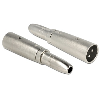 Delock XLR -> Jack stereo 6,3mm M/F adapter ezüst