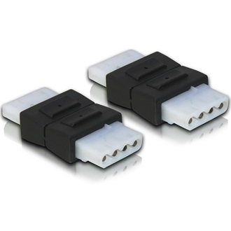 Delock Molex Power 4pin F/F adapter fekete