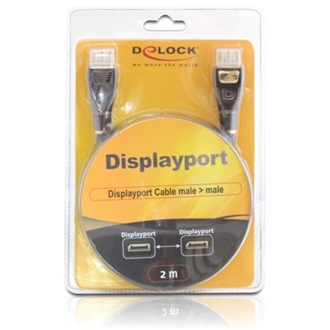 Delock Displayport M/M video jelkábel 2m Premium