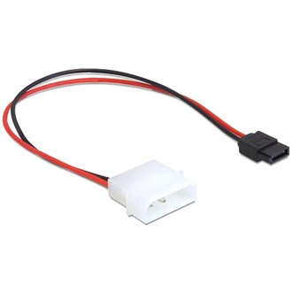 Delock Molex Power 4pin -> SATA Power 6pin M/F tápkábel 0.24m