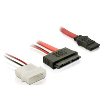 Delock Micro SATA Molex Power 4pin -> SATA F/F adapter