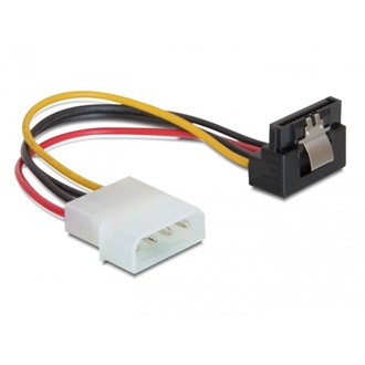 Delock Molex Power 4pin -> SATA Power 15pin M/F tápkábel 0.15m