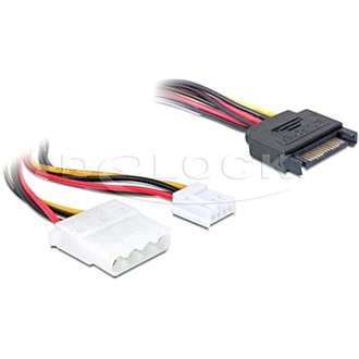 DELOCK SATA Power -> Molex Power 4pin Floppy Power M/F adapter