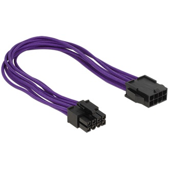Delock Power 8pin M/F tápkábel 0.3m EPS lila