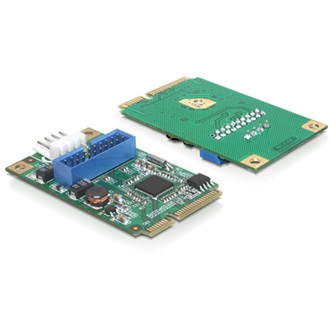 Delock mini PCI-E x1 - 2 portos USB3.0 adapter 1 x 19 Pin USB 3.0 Pin Header