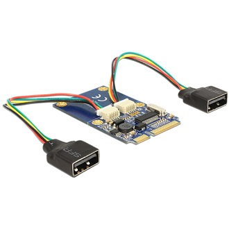 Delock mini PCI-E x1 2 USB2.0 mini PCI-E x1 IO vezérlő